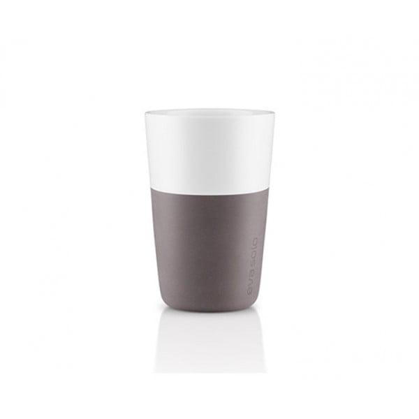 Набор чашек Latte 360 мл серый/белый