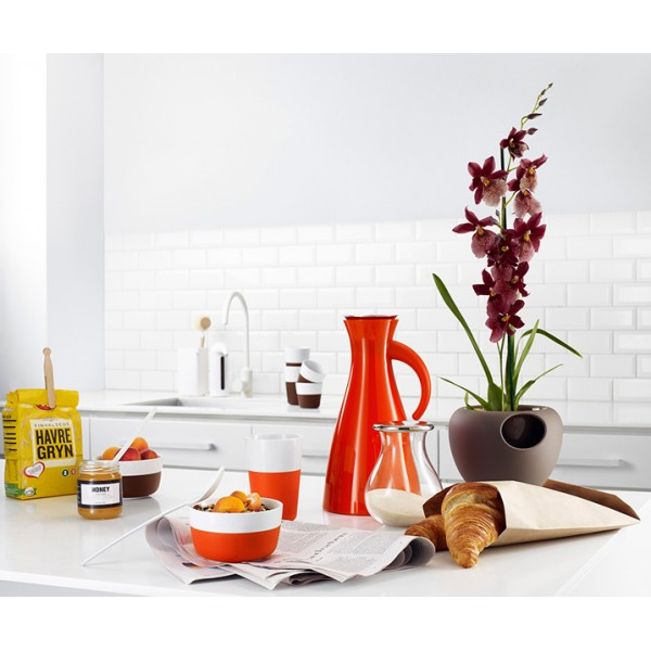 Набор чашек Latte 360 мл оранжевый/белый