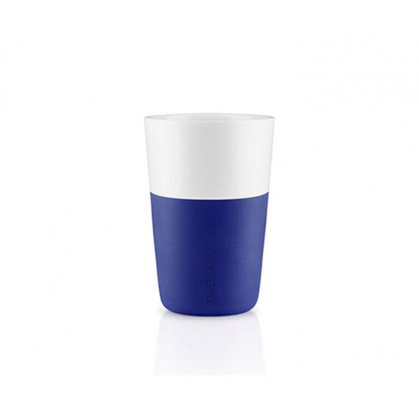 Набор чашек Latte 360 мл синий/белый