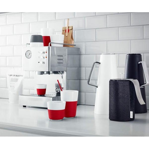 Кофейные чашки Lungo 2 шт 230 мл красные