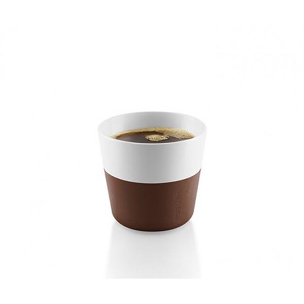 Кофейные чашки Lungo 2 шт 230 мл коричневые