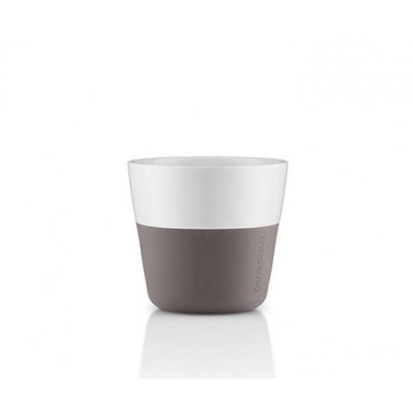 Кофейные чашки Lungo 2 шт 230 мл серые