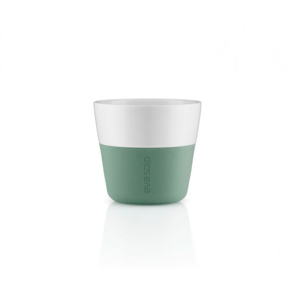 Кофейные чашки Lungo 2 шт 230 мл лунно-зеленые