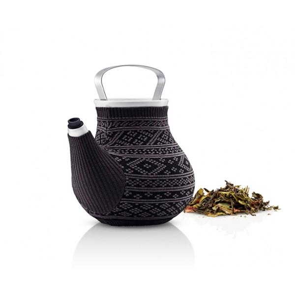 Чайник My Big Tea в вязаном чехле серый с узором