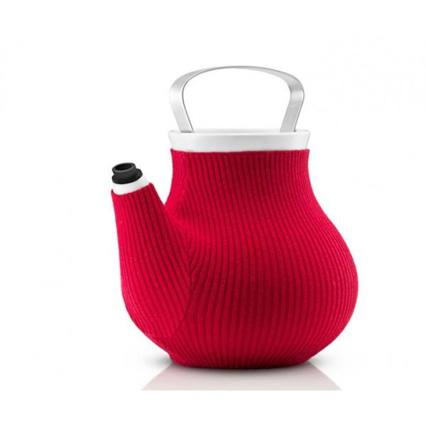 Чайник My Big Tea в вязаном чехле красный
