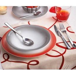 Тарелка обеденная Grace красная