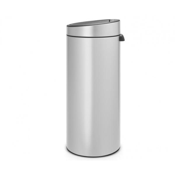 Мусорный бак Touch Bin 30 л серый металлик