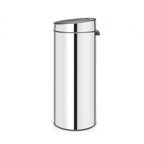 Мусорный бак Touch Bin 30 л полированная сталь