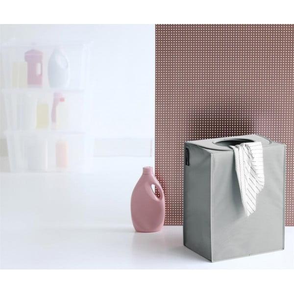 Сумка для белья прямоугольная 55 л серый