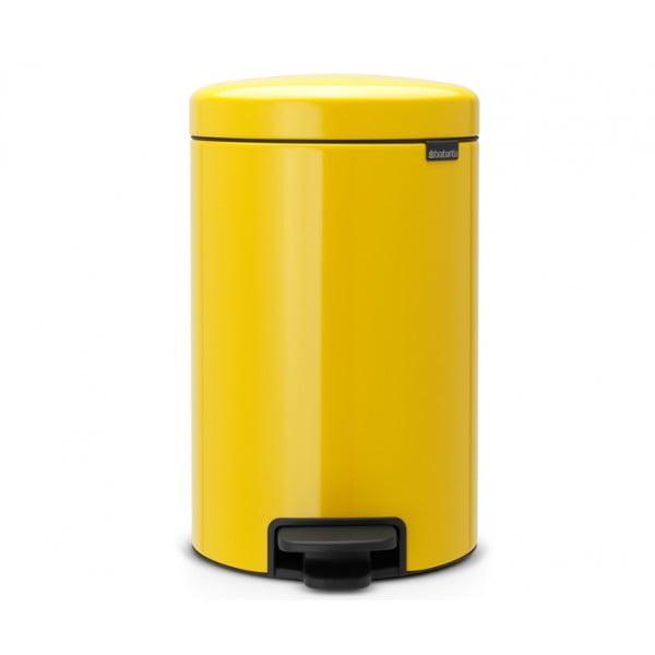 Мусорный бак с педалью New Icon 12 л желтая маргаритка