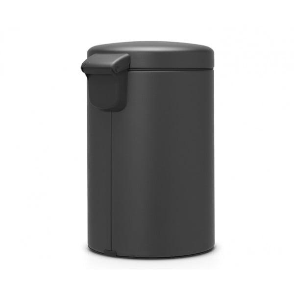 Мусорный бак с педалью New Icon 12 л минерально-графитный