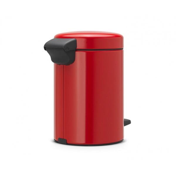 Мусорный бак с педалью New Icon 3 л пламенно-красный