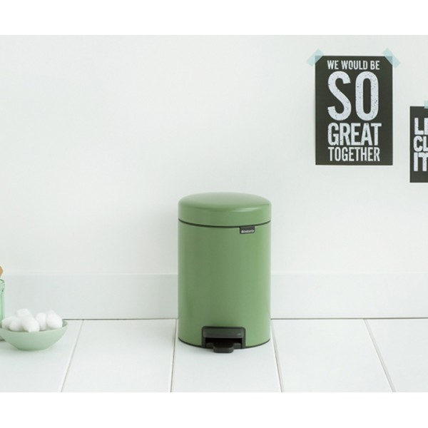 Мусорный бак с педалью New Icon 3 л зеленый мох