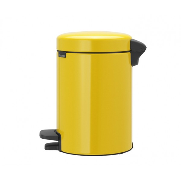 Мусорный бак с педалью New Icon 3 л желтая маргаритка