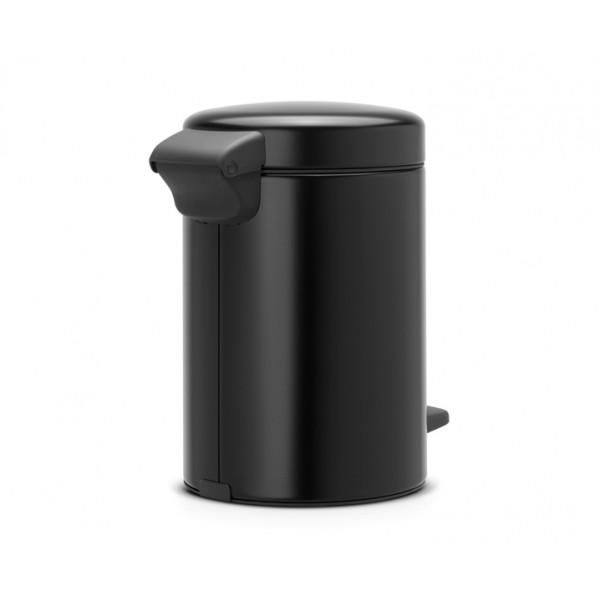 Мусорный бак с педалью New Icon 3 л черный матовый