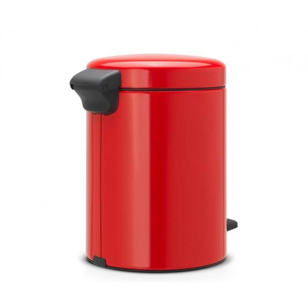 Мусорный бак с педалью New Icon 5 л пламенно-красный