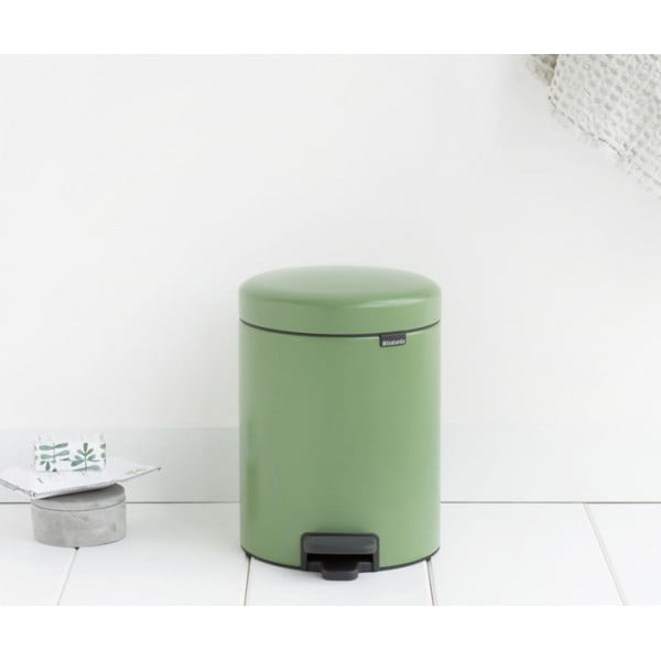 Мусорный бак с педалью New Icon 5 л зеленый мох