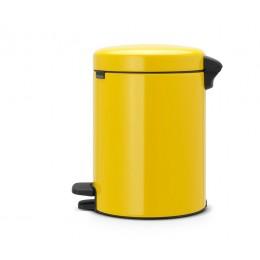 Мусорный бак с педалью New Icon 5 л желтая маргаритка
