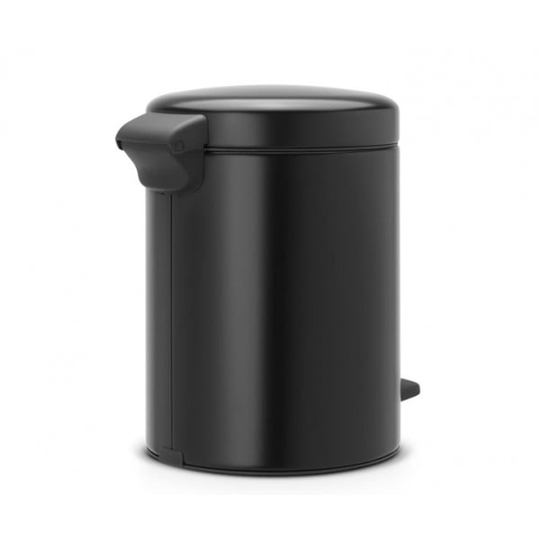 Мусорный бак с педалью New Icon 5 л черный матовый