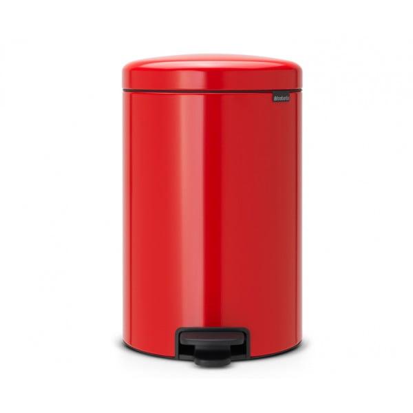 Мусорный бак с педалью New Icon 20 л пламенно-красный