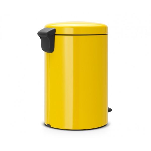 Мусорный бак с педалью New Icon 20 л желтая маргаритка