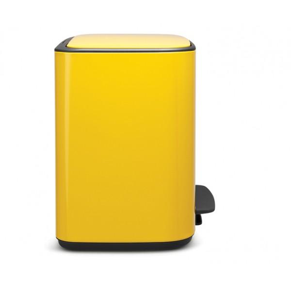 Мусорный бак Bo с педалью 3х11 л желтая маргаритка
