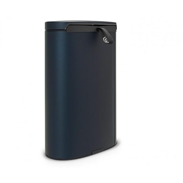Мусорный бак с педалью FlatBack+ 40 л минерально-синий