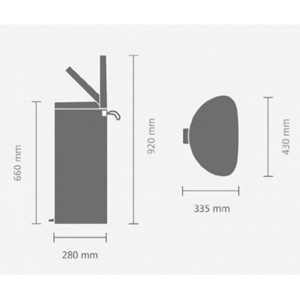 Мусорный бак с педалью FlatBack+ 40 л минерально-мятный