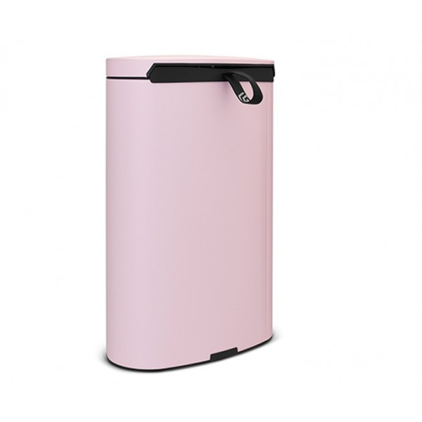 Мусорный бак с педалью FlatBack+ 40 л минерально-розовый