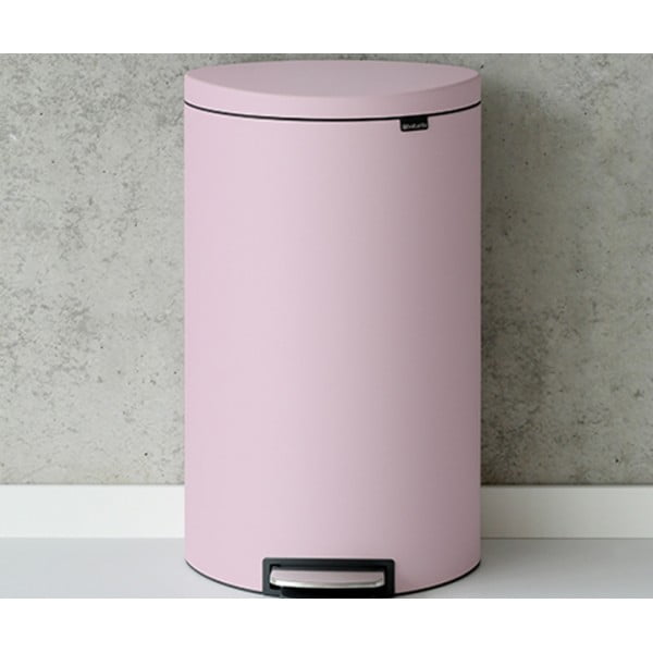 Мусорный бак с педалью FlatBack+ 30 л минерально-розовый