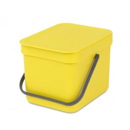 Встраиваемое мусорное ведро Sort Go 6 л желтый