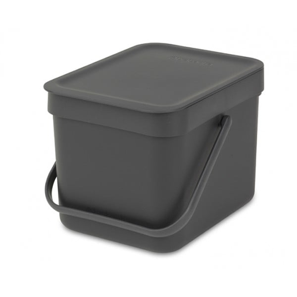 Встраиваемое мусорное ведро Sort Go 6 л серый
