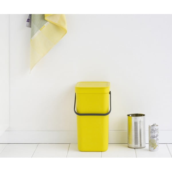 Встраиваемое мусорное ведро Sort Go 12 л желтый
