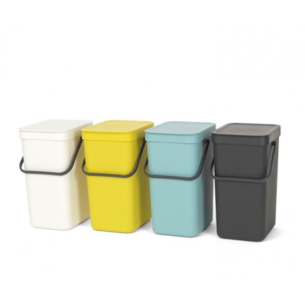 Встраиваемое мусорное ведро Sort Go 12 л серый