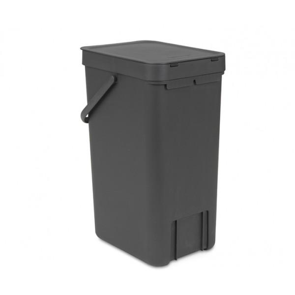 Встраиваемое мусорное ведро Sort Go 16 л серый