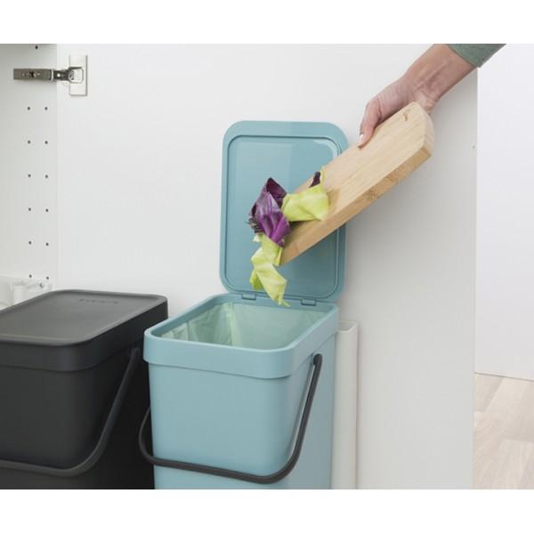Встраиваемые мусорные ведра Sort Go 2 x 12 л мятный/серый