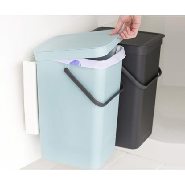 Встраиваемые мусорные ведра Sort Go 2 x 16 л мятный/серый