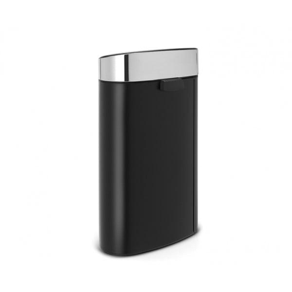 Мусорный бак Touch Bin New 40 л черный матовый крышка стальная матовая