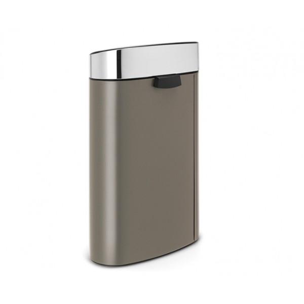 Мусорный бак Touch Bin New 40 л платиновый крышка стальная матовая