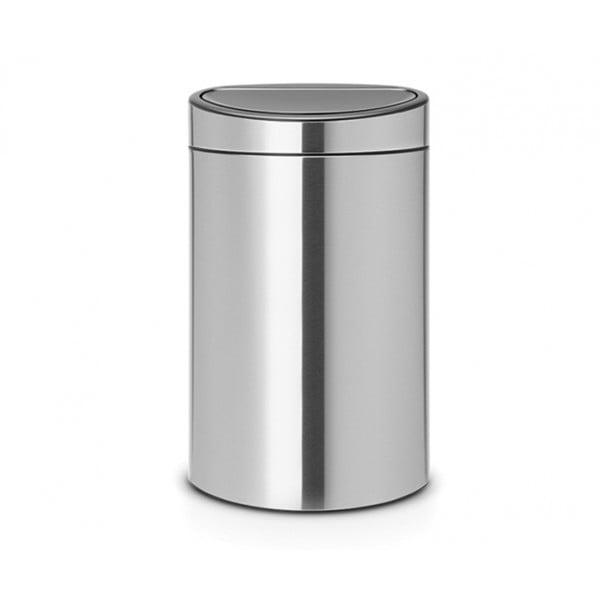 Двухсекционный мусорный бак Touch Bin New 10/23 л стальной матовый