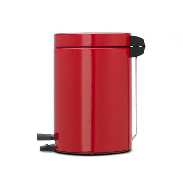 Мусорный бак с педалью 3 л классический пламенно-красный