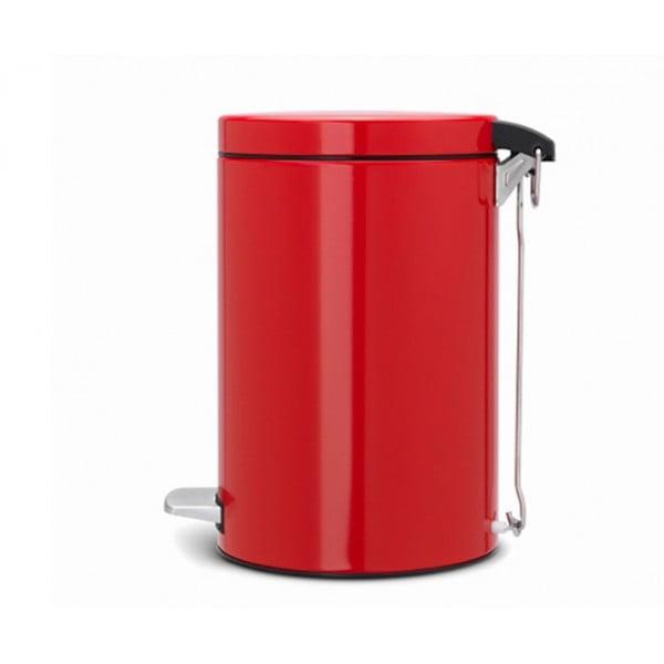 Мусорный бак с педалью 12 л классический пламенно-красный