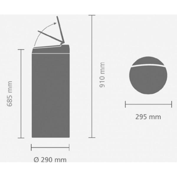 Мусорный бак Flip Bin 30 л антрацит