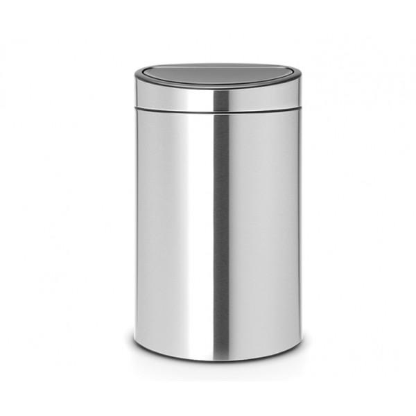 Двухсекционный мусорный бак Touch Bin New 10/23 л стальной матовый FPP