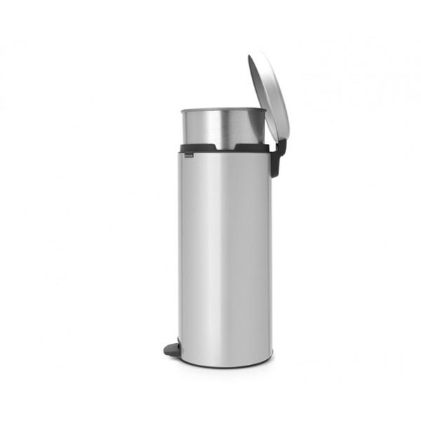 Мусорный бак New Icon 30 л металлическое внутреннее ведро серый металлик