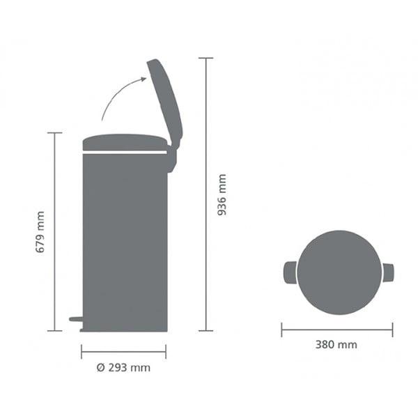Мусорный бак New Icon 30 л металлическое внутреннее ведро белый