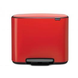 Мусорный бак Bo с педалью (11 л + 23 л) пламенно-красный
