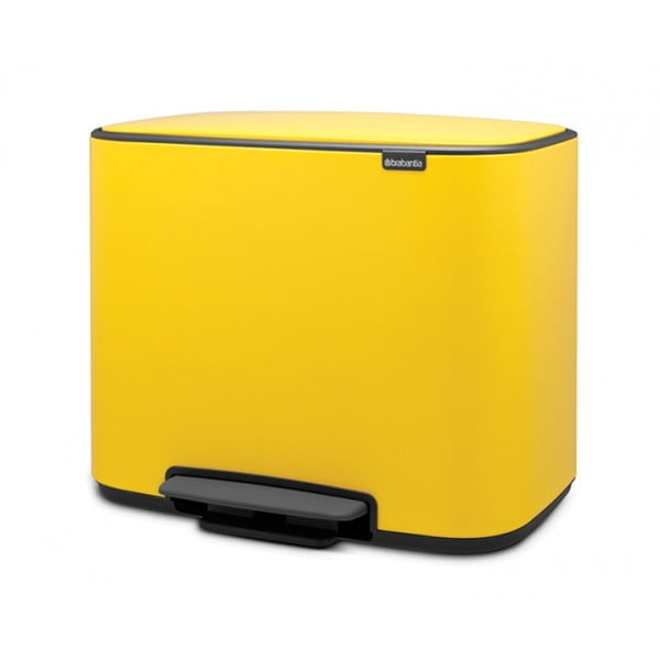 Мусорный бак Bo с педалью (11 л + 23 л) желтая маргаритка