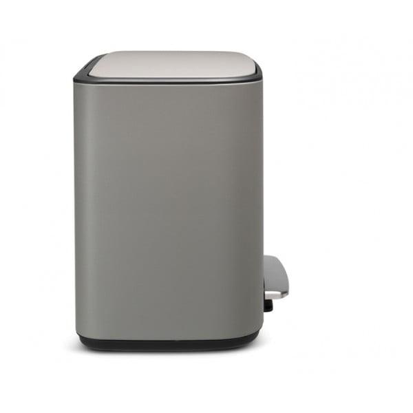 Мусорный бак Bo с педалью (11 л + 23 л) серый с эффектом минерального напыления