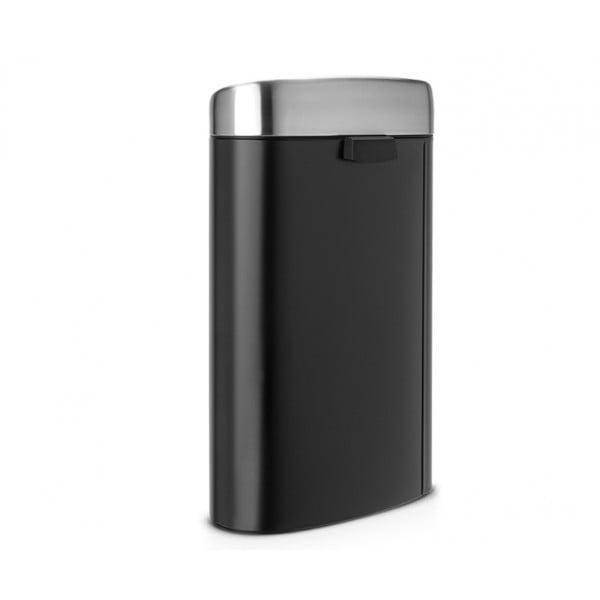 Мусорный бак Touch Bin 40 л матовый черный/крышка матовая FPP